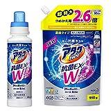 アタックNeo 抗菌EX Wパワー 洗濯洗剤 濃縮液体 本体 400g + 詰替え950g