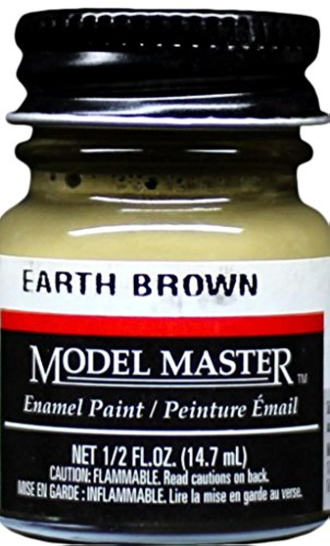 モデルマスターTestors Earthブラウンエナメルペイント0.5オンスボトル# 2124