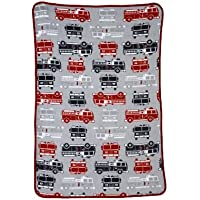 Carter's Toddler Printed Coral Fleece Blanket, Fire Truck by NoJo