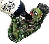 Decaying Zombie Walking DeadワインGuzzlerホルダーキッチン装飾Resin Figurine