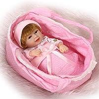 NPK collection 10インチ26 cmフルボディシリコンソフトビニールReal Looking Rebornベビー人形Lifelike Newborn Doll Girl in Cradle
