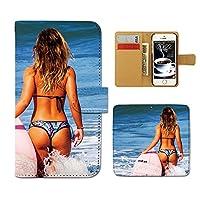(ティアラ) Tiara AQUOS R2 SH-03K スマホケース 手帳型 sexy 手帳ケース カバー セクシー SEXY 海 モデル 水着 F0274010102101