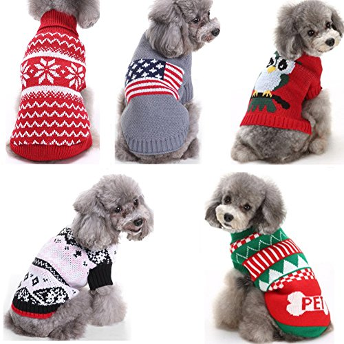 G-LOVE 誕生日 聖夜 秋冬 ペットウェア犬服猫服 おしゃれ ペットウェア ドッグウエア 帽子付き 小型犬用品 かわいい犬の服 ニットセーター トイプードル/ダックス/マルチーズ/シュナウザー/シーズー等の小型犬
