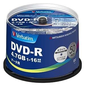 三菱ケミカルメディア Verbatim 1回記録用 DVD-R DHR47JP50V4 (片面1層/1-16倍速/50枚)