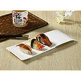 西田(Nishida) 長皿(11号長方形) 寿司皿 すし皿 さんま皿 110222
