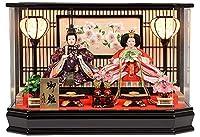 雛人形 コンパクト 六角 ケース飾り 三五 親王飾り ひな人形 No.306-125