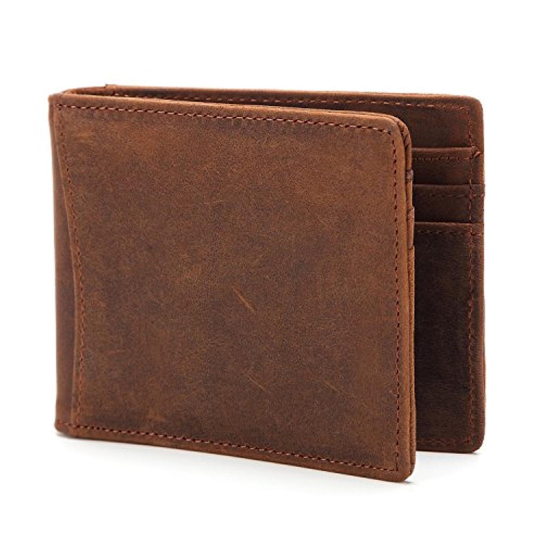 財布 メンズウォレット 超薄型 レザーカードパッケージ ショートウォレット RFIDシールドクリップ
