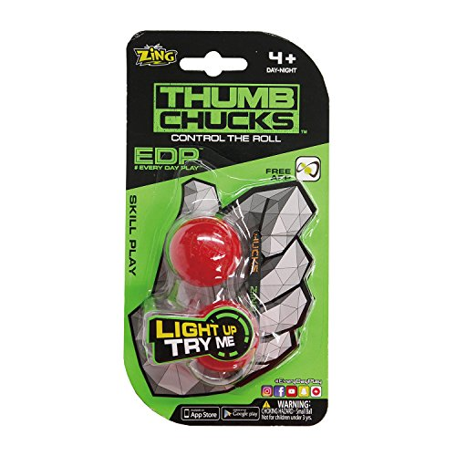 ZING TOYS サムチャックス Thumb Chucks 赤 フィジェット Fidget EDPシリーズ ZT-004