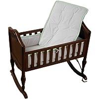 Baby Doll Bedding Minky Diamond Cradle Bedding Set, Sage by BabyDoll Bedding