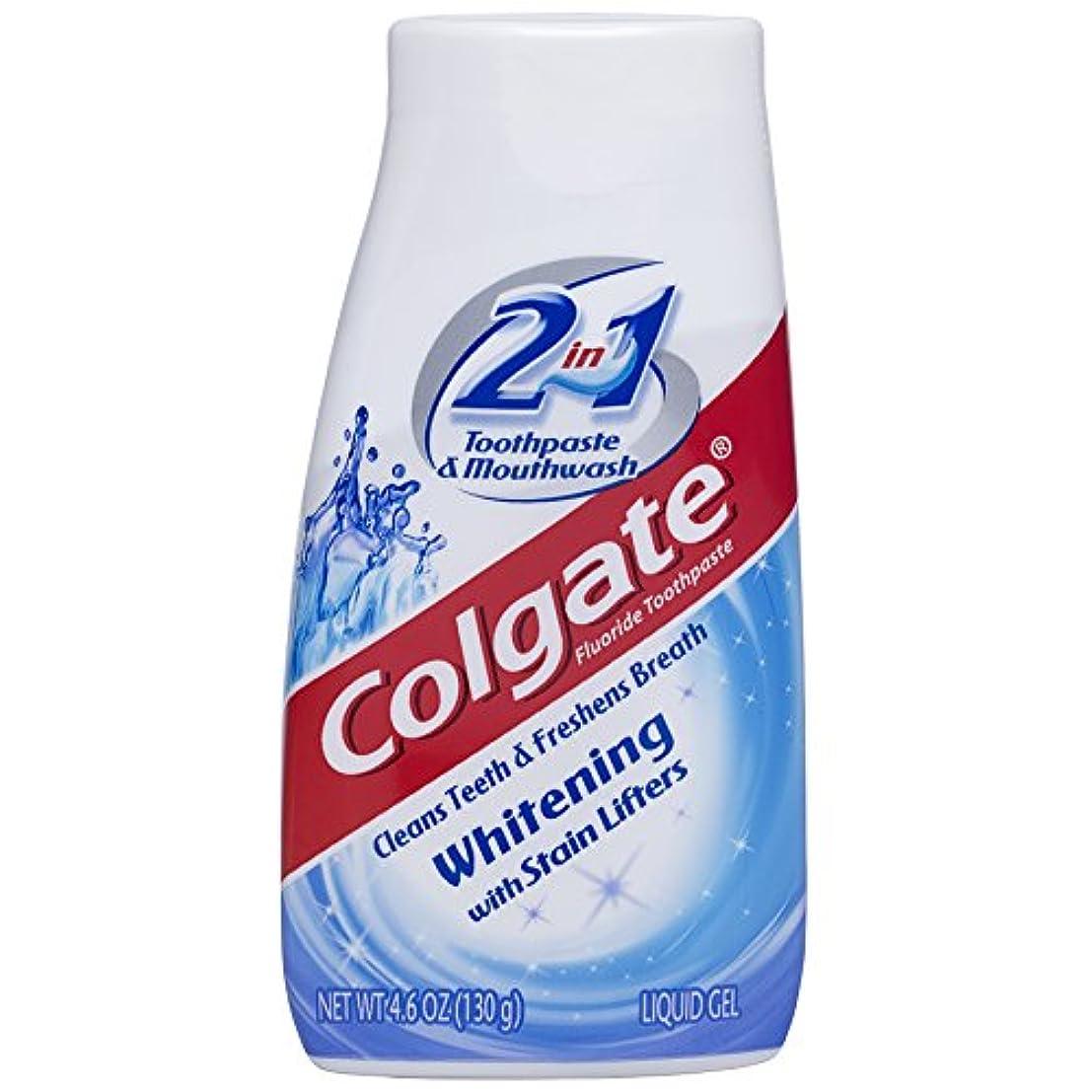 デジタル真面目な乏しい海外直送品Colgate 2 In 1 Toothpaste & Mouthwash Whitening, 4.6 oz by Colgate
