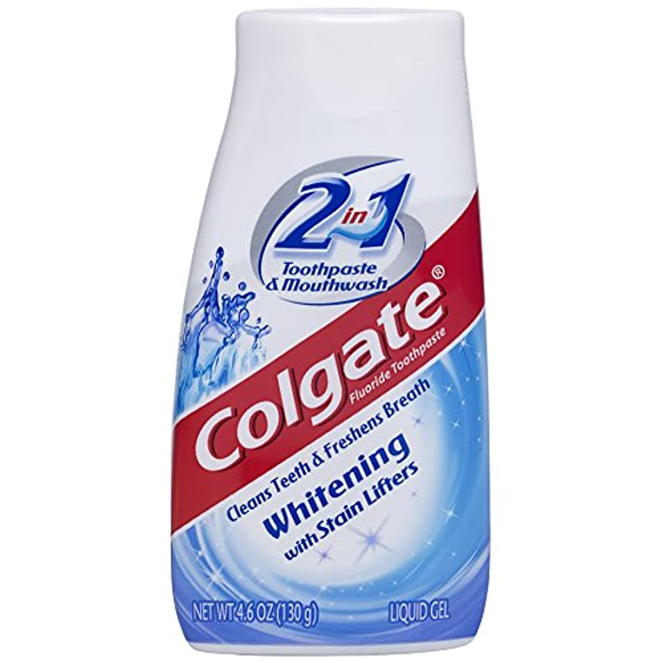 リズム一ゆでる海外直送品Colgate 2 In 1 Toothpaste & Mouthwash Whitening, 4.6 oz by Colgate