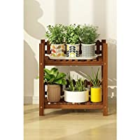 木製フラワーラック室内植物スタンド木製植物フラワーディスプレイスタンド木製ポットシェルフストレージラック屋外 (サイズ さいず : 50 * 25 * 52cm)