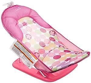 日本育児 ソフトバスチェア デイジー 幅約30×奥行61.5×高さ27・31・33cm 5450003001 生後まもなく~11kgまで 小さなお子様の入浴を補佐するバスチェア