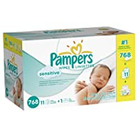 Pampers Sensitive Wipes Box, 768 Count by Pampers