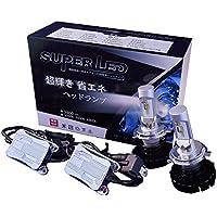H4 hi/lo LEDヘッドライト 6500k 3800lm 車検対応 1年保証