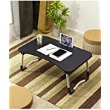 Laptop Desk Bed Tray, Foldable Lap Desk Bed Table for Breakfast Serving, Notebook Table with Tablet Slots for Couch Floor for