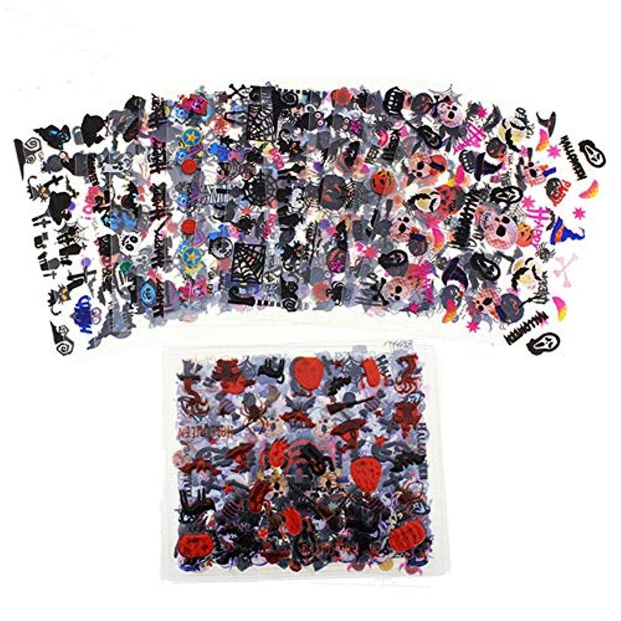 縞模様の拾う喪SODAOA屋 ネイルシール ハロウィーン ネイルステッカー ネイル用装飾 24枚セット 可愛いネイル飾り 貼るだけマニキュア ネイル用装飾 女性 女の子 子供用