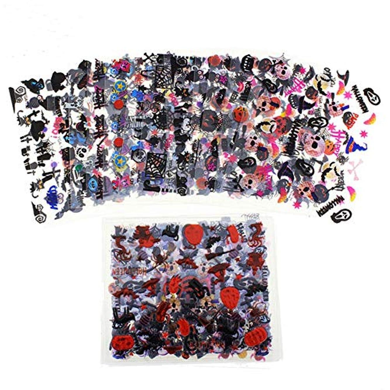 下位取り戻す取り戻すEVA-JP ネイルシール ハロウィーン ネイルステッカー ネイル用装飾 24枚セット 可愛いネイル飾り 貼るだけマニキュア ネイル用装飾 女性 女の子 子供用