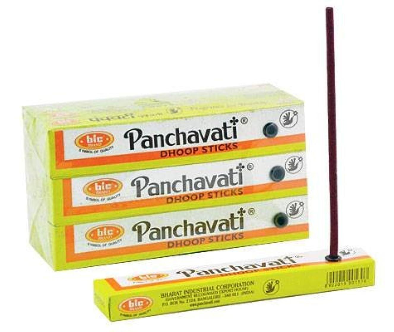タイプライター体面積Panchavati Dhoopスティック12パック、12カウントin aボックス