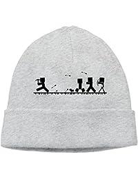 SmokyBird ニットキャップ ニット帽 ビーニー 防寒 ワッチ CAP おもしろ スケルトン マインクラフト ゲーム モンスター