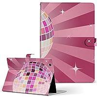igcase d-01J dtab Compact Huawei ファーウェイ タブレット 手帳型 タブレットケース タブレットカバー カバー レザー ケース 手帳タイプ フリップ ダイアリー 二つ折り 直接貼り付けタイプ 002491 ユニーク ピンク パーティー