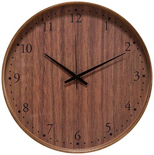 【正確な時間を刻む~シンプル&おしゃれな時計】電波時計 正確 木目調デザイン 自動時刻修正 壁掛け (B2552) Bタイプ