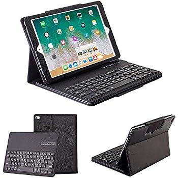 Ewin® New iPad 9.7 2017/iPad Air/iPad Air2/iPad Pro 9.7 汎用 キーボード カバー Bluetooth 3.0 着脱式 ワイヤレス ブルートゥースキーボード iPad 9.7用 保護ケース 日本語 JIS配列 電波法認定済み正規品【日本語説明書と一年の保証付き】 (ブラック)