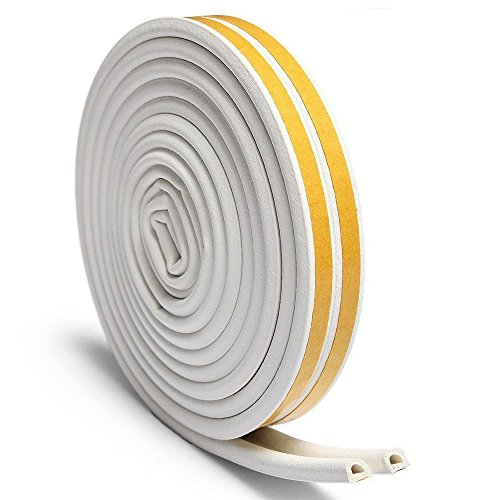 Loobani スキ用テープ 気密 窓 ドア 隙間 すきま パッキン 防音 防風 防虫 D型 (ホワイト)
