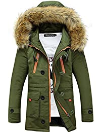 Tisatee秋冬メンズコート レジャー、お洒落ダウン ジャケット フード付き防寒服