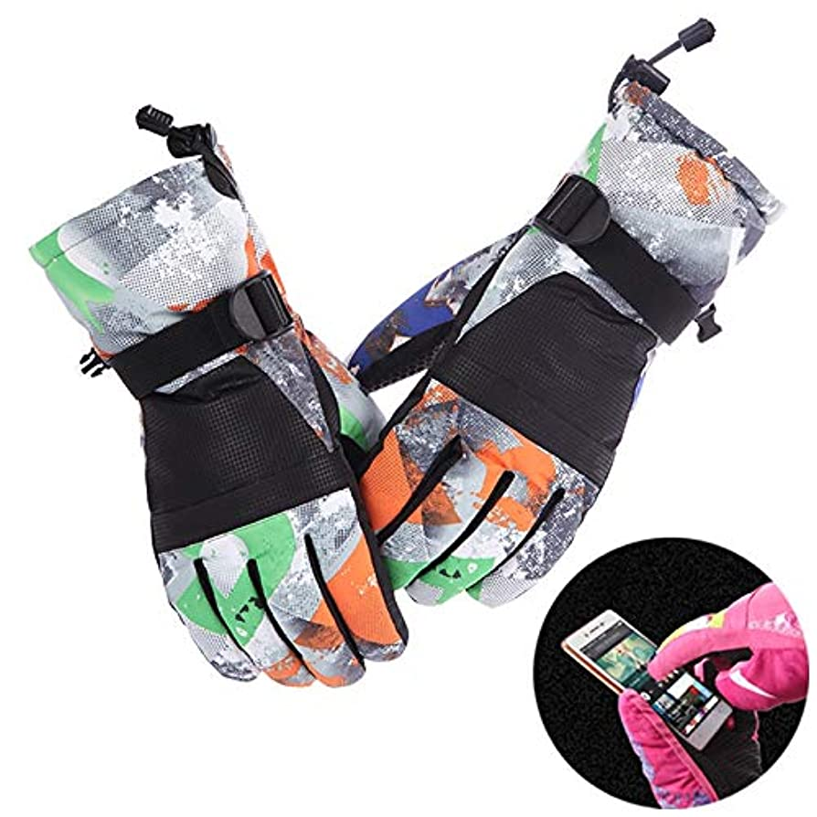 社会主義者説教ひねりWTYDスポーツ用品 保護用ユニセックススキー乗馬冬の屋外スポーツのタッチスクリーン厚手防滴防風暖かい手袋、サイズ:XL スポーツのために使用されます