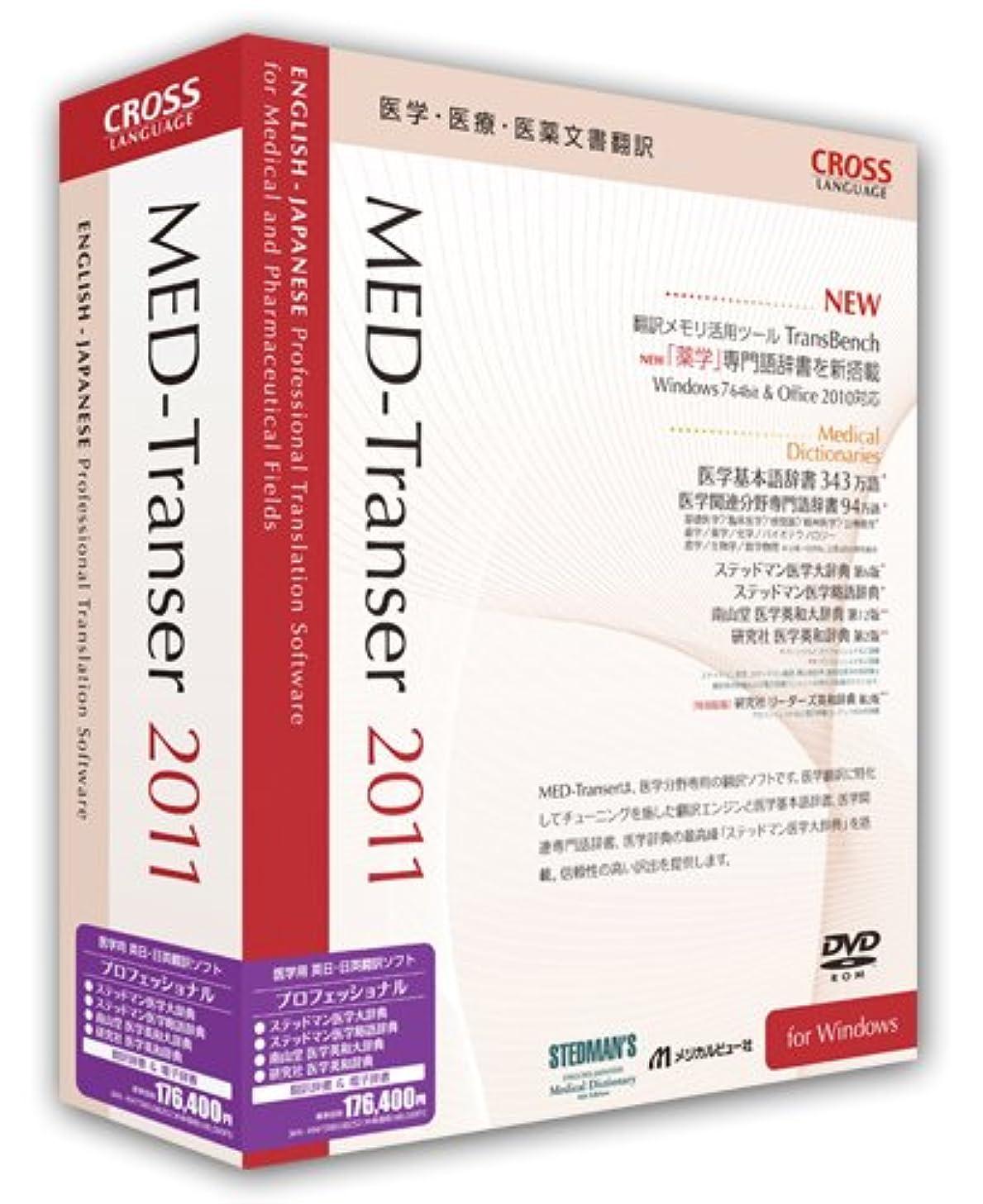目の前の有害な試みるMED-Transer 2011 プロフェッショナル for Windows
