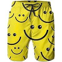 HRowling I Like Sports Smile face Men/boy Casual Shorts Swim Trunks Elastic Waist Beach Pants Pocket