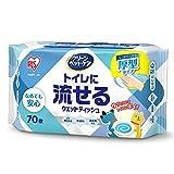 アイリスオーヤマ(IRIS OHYAMA) ペット用トイレに流せるウェットティッシュ70枚入×1P PNWT-1P - - -