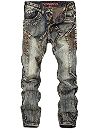 [プチドフランセ ] デニム メンズ ジーンズ ファッション デニムジーンズ パンツ ビンテージ 切り替え ヴィンテージ