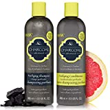 HASK CHARCOAL WITH CITRUS OIL Shampoo and Conditioner Set Clarifying and Purifying for all hair types, color safe, gluten-free, sulfate-free, paraben-free - 1 Shampoo and 1 Conditioner