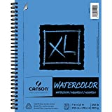 """Canson Canson XL Series Watercolor Textured Pad, Use with Paint Pencil Ink Charcoal Pastel and Acrylic, Side Wire Bound, 140 Pound, 7 x 10 Inch, 30 Sheets, 400077425, Original Version, 7""""X10"""""""
