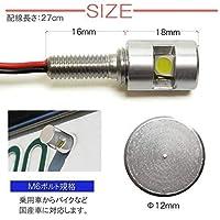 ミニカ タウンビー LED ナンバーボルト 三菱 ライト ボルト型 LEDライト ナンバー灯 シルバー 2個セット