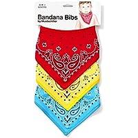 Mustachifier Bandana Bibs - Set of 3, Red/Yellow/Blue by Mustachifier