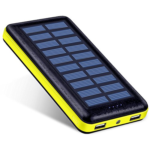 Antun 超大容量22400mAh モバイルバッテリー ソーラーチャージャー