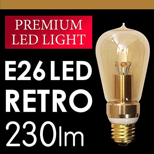 LEDクリア電球 5W 口金E26 LEDレトロ電球 白熱球風 アンバー色