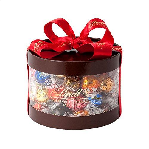 リンツ (Lindt) チョコレート リンドール ギフトボックス 個包装 9種 50個入りショッピングバッグL2付