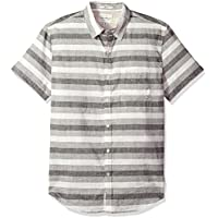 Lucky Brand Mens 7M42941 Casual Short Sleeve Stripe Ballona Button Down Shirt Short Sleeve Button Down Shirt - Multi