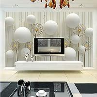 Xbwy カスタム3D写真壁紙現代のファッションシンプルで柔らかいタンポポ寝具ルームソファの背景壁画壁紙用壁3D-150X120Cm