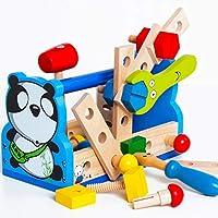 大工さんセット 可愛いパンダ工具セット おままごと 木のおもちゃ 組み立て 工具箱 ツール 男の子のおもちゃ キッズ用 子供のおもちゃ 知育玩具 誕生日 クリスマス プレゼント