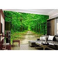 Mingld 3 D写真の壁紙ツリーアベニュー絵家の装飾画リビング壁のためのカスタム壁画3D壁の壁画壁紙3 D-400X280Cm