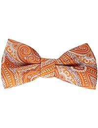 メンズPre Tied Bowtie、エレガントな織ペイズリーパターン – さまざまな色