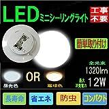 LED 小型 シーリングライト 12W ミニシーリングまで用 6畳 おしゃれ 和室 和風 (電球色)