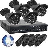 【SKY Electronics】 防犯カメラ 監視カメラ 屋外 録画 4台 セット SET-A101g