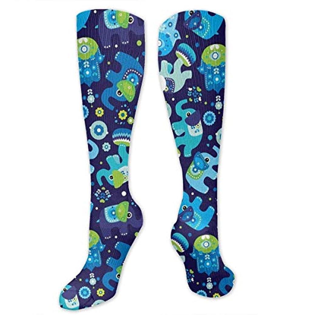 緊張助言するランドリー靴下,ストッキング,野生のジョーカー,実際,秋の本質,冬必須,サマーウェア&RBXAA Blue Boy Elephant Hand Pattern Socks Women's Winter Cotton Long Tube...