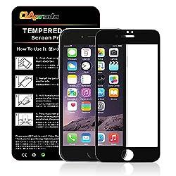 OAproda iPhone7液晶強化ガラス 日本旭硝子素材AGC 3Dtouch ラウンドエッジ加工 指紋防止 油脂防止 キズ防止 耐衝撃 ガラス面を全て覆える設計 硬度9H 極薄0.33mm(4.7インチ、ブラック 1枚)